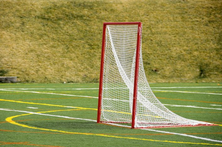 Lacrosse Net on a Turf Field