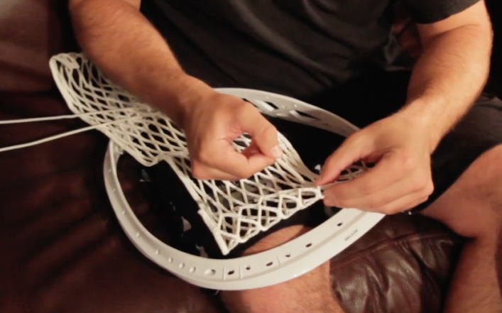 How to string goalie head - 2
