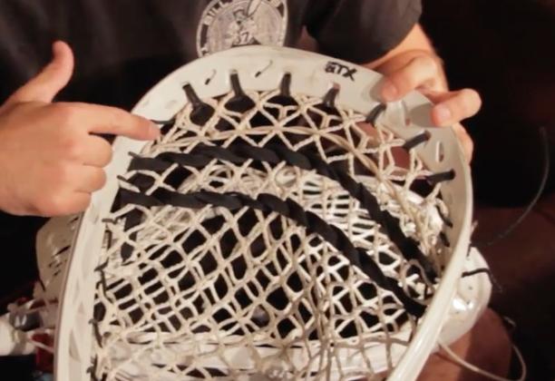 How to string lacrosse goalie head