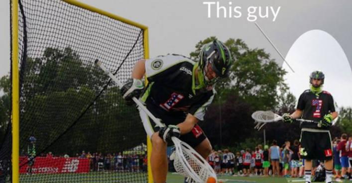 Backup lacrosse Goalie