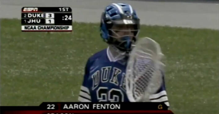 2005 Goalie of the Year at Duke Aaron Fenton – LGR Podcast Episode #76